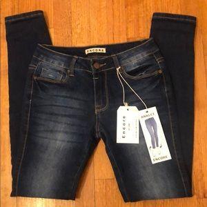 Encore, Dark Bleu Denim Ankle Jeans, size 3 or 27